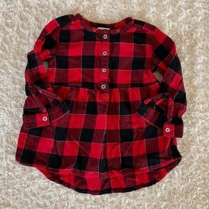 Jumping Beans plaid flannel tunic